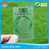 Cartão transparente desobstruído geado projeto do PVC do ISO Cr80 para o negócio