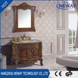 新しいデザイン骨董品の純木のホーム家具の浴室用キャビネット