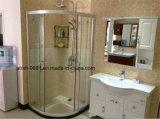 Quarto de chuveiro do vidro temperado sanitário dos mercadorias e cerco simples do chuveiro