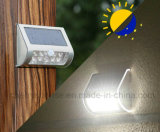 Angeschaltene LED-Solarnacht beleuchtet weißes Farben-Netz-Licht-äußeres Wand-Solarlicht für Verkauf