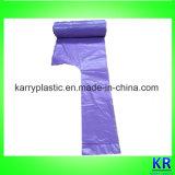 Ручка HDPE кладет мешки в мешки отброса мешков погани с ярлыком