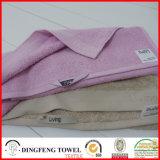 100%年の綿の多彩のサテンのボーダーギフトタオルセット