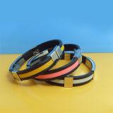 Bracelets en caoutchouc ajustable en silicone en acier inoxydable