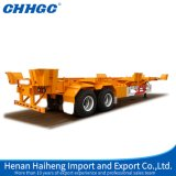 3つの車軸20FT 40FT Container SkeletonかFlatbed Semi Trailer