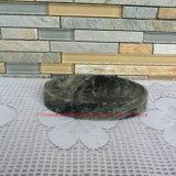 Зеленая мраморный тарелка мыла