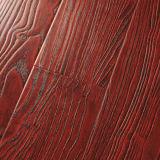 Plancher en bois stratifié à surface gaufrée en relief émincé