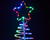 Lumière de Noël de l'arbre DEL d'éclairage de corde de spirale de Noël de DEL