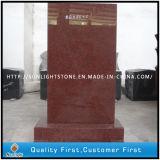 直立したインドの帝国赤い花こう岩の墓碑および墓石