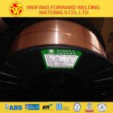 Gouden Draad 1.2mm 15kg/Spool er70s-6 van het Lassen van de Brug de Stevige Draad van het Lassen van mig van de Draad van het Lassen van het Soldeersel met Koper Met een laag bedekte ISO9001