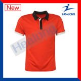 Camisas de polo quentes do golfe da planície do Sublimation da venda 3D do Sportswear de Healong