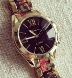 Montre analogique de bande de poignet du Japon de mode de chronographe unisexe de quartz (XM9009)