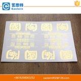 Autoadesivo di Electroform dell'oro personalizzato contrassegno del metallo del nichel