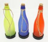 Luces solares del jardín de vino de la cadena plástica colorida de la botella