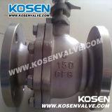 Robinet à tournant sphérique de flottement d'acier inoxydable (Q41F)