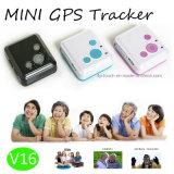 Mini traqueur de GPS pour les gosses et l'appel téléphonique adulte du moniteur SOS de GM/M (V16)