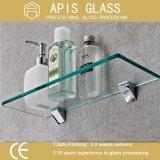 6mm rechteckiges Regal-ausgeglichenes Glas mit runden Polierrändern