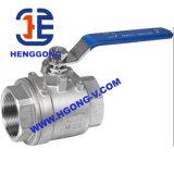Valvola a sfera a tre vie pneumatica di galleggiamento dell'acciaio inossidabile API/DIN dell'azionatore
