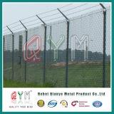 Оптовые панели загородки звена цепи безопасности провода колючки авиапорта/загородки звена цепи