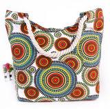 印刷されたキャンバスのショルダー・バッグの方法袋のキャンバスのミイラ袋の綿ロープのハンドバッグ浜袋