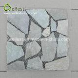 Azulejo de la decoración de la pared del mosaico del fragmento del color del limón de la pizarra