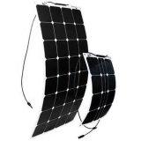 공장 Sunpower Monocrystalline 실리콘 100W 반 유연한 태양 전지판