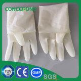 長い粉の自由な外科手袋