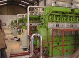 電気機器のHFO発電所3MW(3X1MW)の生成