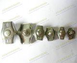 Clip recto de câble métallique d'acier inoxydable