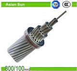 Conductor de aluminio trenzado transmisión de arriba del cable de alambre ACSR