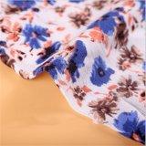 La flore a estampé le tissu de Crepe de Spandex de viscose de la robe 100
