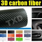 3D Vinyl van de Vezel van de Koolstof voor de Omslag van de Auto