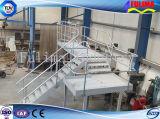 Escalera diseñada moderna / plataforma con la barandilla de acero soldada (SSW-S-009)