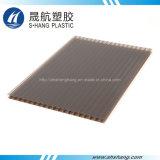 Hoja plástica del policarbonato hueco de la alta calidad con la capa ULTRAVIOLETA
