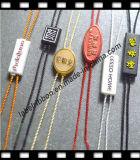 Etiqueta plástica del sello de la ropa del OEM (ST039)