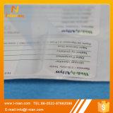 Escritura de la etiqueta escribible de la capa doble con la película de la protección
