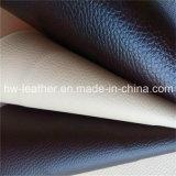 Anti cuir de PVC d'abrasion pour les meubles Hw-208