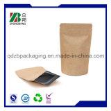 Stand up Ziplock Sac en papier Kraft pour l'emballage du thé au café