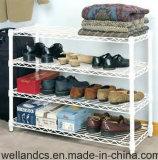 Самомоднейшая фабрика шкафа полки ботинка металла покрытия порошка DIY белая