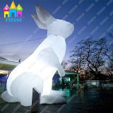 Éclairage décoratif extérieur Giant Air Inflatable Mars Balloon LED Rabbit