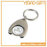 ニッケルメッキ(YB-MK-13)のカスタマイズされたトロリー硬貨の金属Keychain