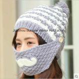 O chapéu Hand-Knitted bordou o chapéu feito malha do Beanie