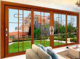Portello scorrevole di alluminio di colore di legno elegante di lusso di modo