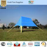 шатер сени тени звезды PVC белизны 16X21m напольный двойной пиковый