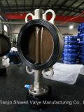 Клапан-бабочка вафли нержавеющей стали с полируя диском