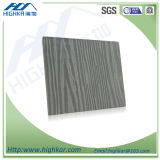 100% Non-Asbestos Wood Grain decorativos Suspended Fiber Cement Board
