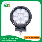 luz del trabajo 45W, luz redonda ligera campo a través del jeep, alta opción 6000k/4500k del color de la lente de la transmitencia de la PC