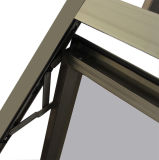 Kz029高品質の粉の上塗を施してある灰色カラーアルミニウムプロフィールの日除けのWindows