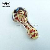 Tubo de tabaco de cristal de la cera del LENGUADO de la cuchara de los tubos que fuman de los tubos de la mano