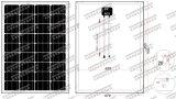 mono comitato solare di 18V 90W 95W (2017)