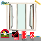 에너지 절약 이중 유리를 끼우는 UPVC 비닐 여닫이 창 유리창